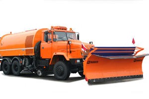 The KrAZ-65032 multipurpose road maintenance truck