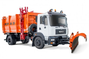 Side loader garbage truck KrAZ-5401H2