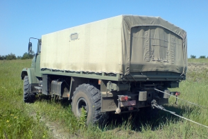 "KrAZ Tests Winch Made by ""Kamenets-Podolskautoagregat"""