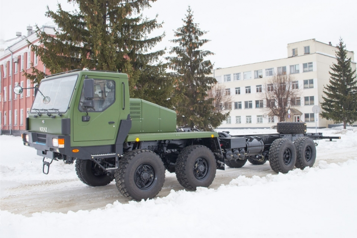 Present for Ukrainian Military: 8х8 KrAZ Cab Chassis Truck with Automatic Transmission