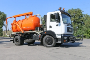 KrAZ Vehicle to Clean Sewerage and Roads in Cherkassy