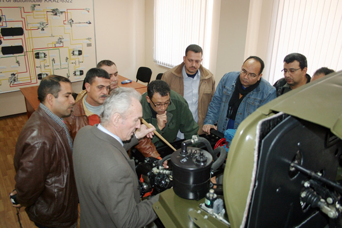 Training for Egyptian MOD officers at KrAZ
