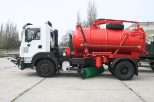 Multi-Purpose KrAZ Vehicle Four-in-One to Clean Odessa