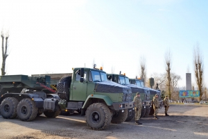 Military Technicians Get New KrAZ Vehicles and Truck Tractors in Nikolayev Region