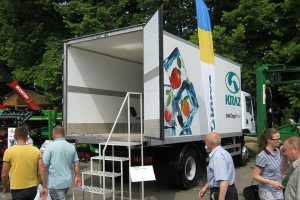 Success of KrAZ Refrigerated Box Truck at Agro-2015