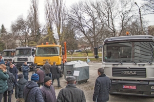 """AutoKrAZ"" Demonstrates Municipal Vehicles KrAZ to Heads of United Communities"