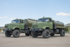 New Military KrAZ Tank Trucks for Carrying Drinking Water