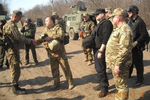 Minister of Defence and Secretary of NSDC of Ukraine Choose KrAZ-Cougar for Going to ATO Zone