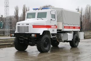 New KrAZ Vehicle for Mine Clearing Supplied to Rescuers
