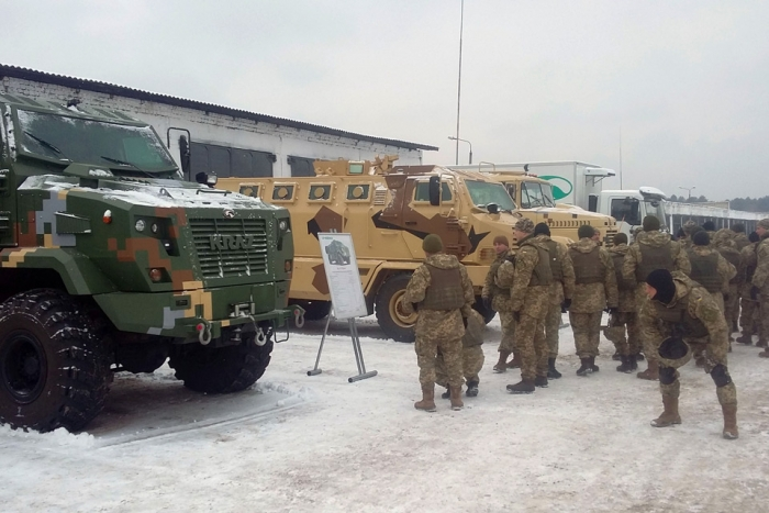KrAZ Vehicles Participate at Military Training for Sergeant-Majors of Ukrainian Army