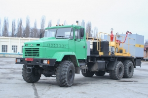 "KrAZ-63221 truck chassis were shipped to ""KHZTO"""
