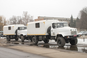 The KrAZ-5233НЕ Wheeled House for Gas Workers