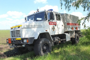 The KrAZ Vehicle Delivers the SС-50 Bomb and Shell for Disposal