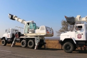 The UDS 114 Boom Excavators Based on KrAZ Chassis Delivered to Donbas Rescuers