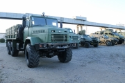 """The first stage of vehicle demonstration for the Armed Forces of Ukraine was completed at the """"AutoKrAZ"""" test site."""