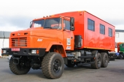 Powerful mobile repair shops ACAM-78 are manufactured on the basis of the KrAZ truck chassis
