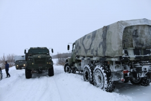 KrAZ Vehicles Engaged in Disaster Relief Efforts
