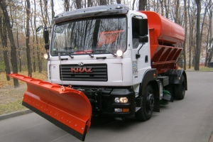 New KrAZ Vehicle to Clean Kremenchug Roads