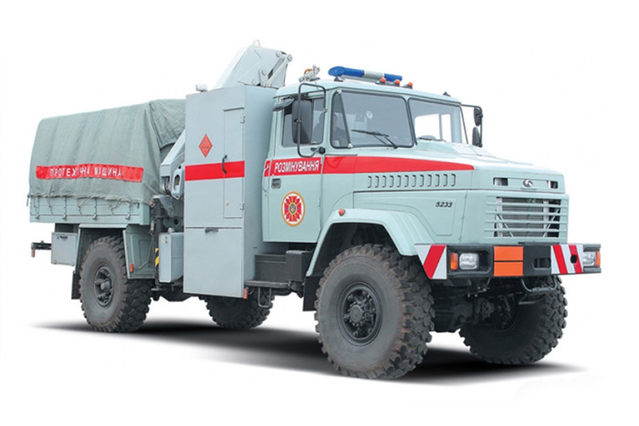 The special truck KrAZ-5233BE
